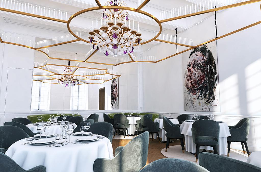 Salon très luxe chateau en provence