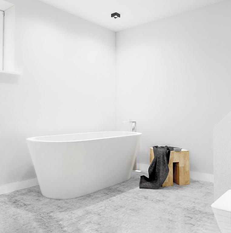 salle de bain blanche classe dans villa