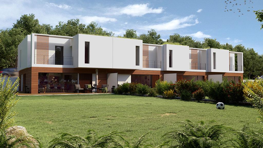 villa vue extérieure jardin